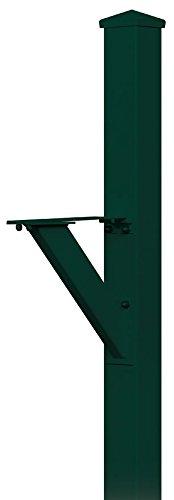 Salsbury Industries 4825GRN In-Ground Mounted Post Modern Decorative Mailbox, Green