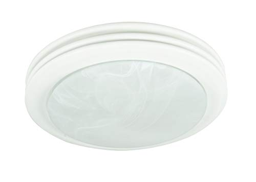 90052 Saturn Decorative Bathroom Ventilation Fan with Light in Satin White, ()