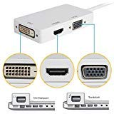 IBEST Thunderbolt 3-in-1 Mini Display Port to DVI VGA HDMI TV AV HDTV Adapter Cable Cord Conventer for Mac Book, Imac, Mac Book Air, Mac Book Pro, and Mac Surface Pro Multiport Cable Converter Hub