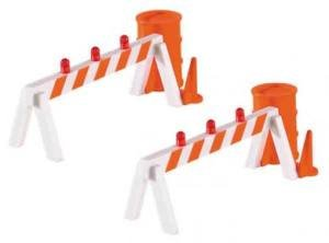 Williams by Bachmann Blinking Hazard Barricades 2 Per for sale  Delivered anywhere in USA