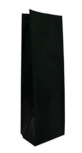 16 oz. Matte Black Foil Gusseted Bag (Coffee Packaging, Tea Packaging)