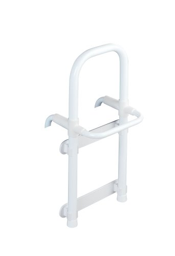 WENKO 8110100 Badewannen-Einstiegshilfe Secura Weiß - verstellbar, 120 kg Tragkraft, Aluminium, 23 x 52.5 x 24.5 cm, Weiß