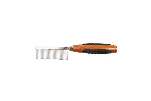 Bass Ships - Bass Brushes Wide Tooth Metal Pet Comb with Bamboo Wood Handle