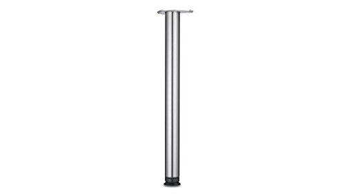 (Richelieu Hardware 660710170 700 mm (27-1/2'') - Zoom Series Table Leg - Stainless Steel - Box of 4)