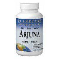 Planetary Herbals Full Spectrum Arjuna, 550 mg, Tablets , 120 tablets (Pack of 2)