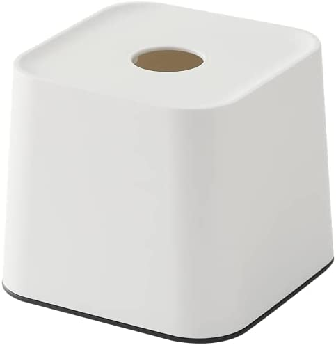 WWBB Tissue Box Cover, Tissue Box Holder, Plastic Square Paper Facial Tissue Box Cover Holder for Bathroom, Living, Bedroom