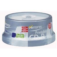 880318 Part# 880318 CD-R Media W/Printable Surface 700MB/80Mn 30/Pk from Office Depot