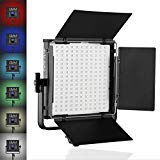 GVM RGB LED Video Light Full Color Output CRI97+ TLCI97+ Adjustable 2000K-5600K LED Continuous Light for Studio Photography Interview Portrait YouTube and Video Shoot, Barn-Door, Carry Bag