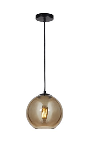 (Summitland 8 inch Pendant with Brass Plated Glass Shade)