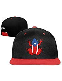 Hip-Hop Trucker Caps Boy and Girl Puerto Rico Frog Mesh Baseball Hat