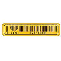 I love Hartford Barcode - US Cities - Street Sign [ Decorative Crossing Sign Wall Plaque ] (Plaque Hartford Wall)