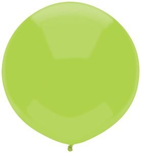 17'' Kiwi Lime Outdoor Latex Balloons - Pack of 5