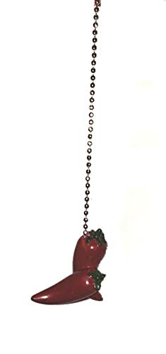 Red CHILI PEPPER HOT Ceiling Fan Pull chain chilli southwestern decor by Clementine