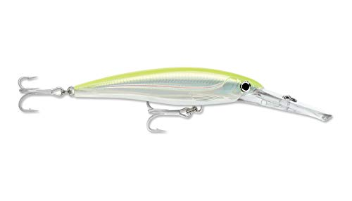 - Rapala XRMAG40SFC X-Rap Magnum 40 Silver Fluorescent Chartreuse Fishing Terminal Tackle, Silver Fluorescent Chartreuse, 40