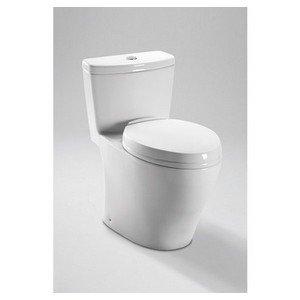Toto MS654114MF#51 1.6GPF and 0.9GPF Aquia One-Piece Toilet, Ebony