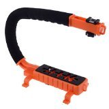 Neewer® C Shaped Video Action Stabilizing Handle Bracket for DV Camcorders DC DSLR Cameras and Point and Shoot Cameras--Orange