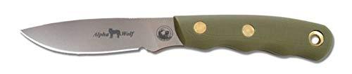 Knives of Alaska Alpha Wolf Knife with OD Green G-10 Handle and S30V - Folding Alpha Knife