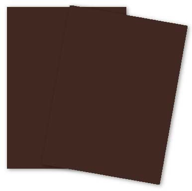 Cotton Cover 134 (Cranes Colors - 8.5 x 11 Card Stock Paper - ESPRESSO - 100% Cotton - 134 Cover - 25 PK)