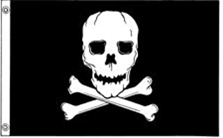 product image for All Star Flags 3x5' Jolly Roger Nylon Flag - All Weather, Durable, Outdoor Nylon Flag