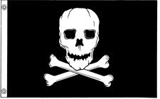 (2x3' Jolly Roger Nylon Flag - All Weather, Durable, Outdoor Nylon Flag - All Star Flags )