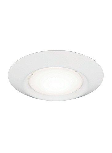 Sea Gull Lighting 14701S-15, Traverse II Round ES Flush Mount, 1LT CFL, White