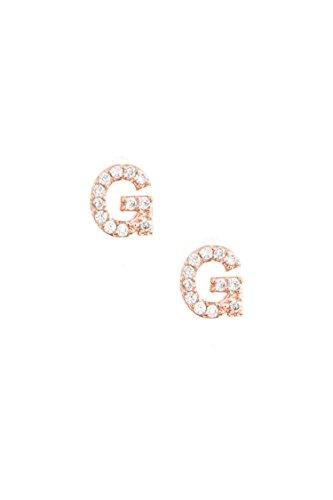 Karmas Canvas CZ Stone Monogram Earring (G)