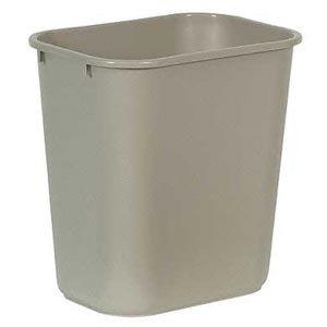 [해외]Bunzl Distribution Midcentral 177008231 러버 메이드 2956 휴지통 직사각형, 28 쿼트 베이지/Bunzl Distribution Midcentral 177008231 Rubbermaid 2956 Wastebasket, Rectangular, 28  quart Beige