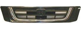 Grille Grill Black & Chrome Front for 97-01 Honda CR-V