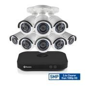 Swann SWDVK-849808 Super HD 5MP Security System, 8 Channel 2TB DVR with 8 x PIR Surveillance Kit, - Motion Digital Video Detect