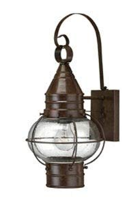 (Hinkley 2200SZ Rustic One Light Wall Mount from Cape Cod collection in Bronze/Darkfinish,)