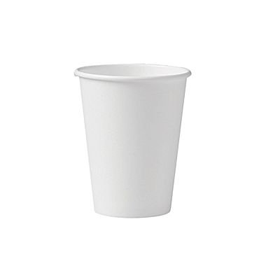 Brheez 12 oz. White Paper Hot Cups, BPA Free - 25 Pack