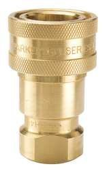 1//4-18 NPTF Thread Parker Hannifin BH2-60 Series 60 Brass Multi-Purpose Quick Coupler with Female Pipe Thread 1//4 Body Size ISO 7241 Series B Interchange 2.26 Length Poppet Valve