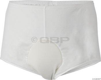 Andiamo Men's Padded Brief: White; LG