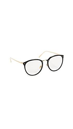 Linda Farrow Luxe Women's Cat Eye Glasses, Black/Clear, One - Optical Farrow Linda