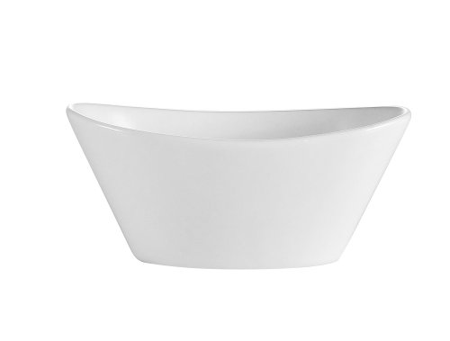 CAC China F-OV6 Sushia 5-1/2-Inch by 3-1/4-Inch by 2-Inch 6.5-Ounce Super White Porcelain Oval Fruit Bowl, Box of 36 by CAC China