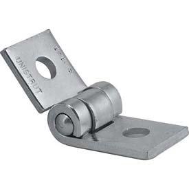 (5 - Pack) Unistrut Adjustable Angle Hinge P1843 EG 2-Hole Electro Galvanized Zinc Steel Fastenal