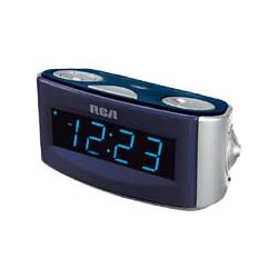 RCA RP3720 Clock Radio with Extra-Large 1.4 Blue Display, Auto Time set and Dual Wake (Discontinued by Manufacturer)