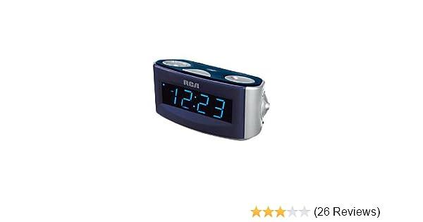 amazon com rca rp3720 clock radio with extra large 1 4 blue rh amazon com