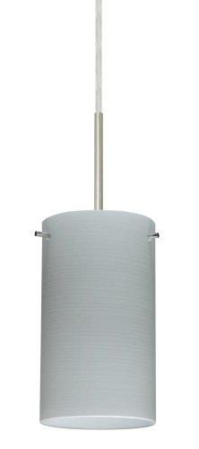 Besa Lighting 1BT-4404KR-LED-SN 1X6W GU24 Stilo 7 LED Pendant with Chalk Glass, Satin Nickel Finish ()