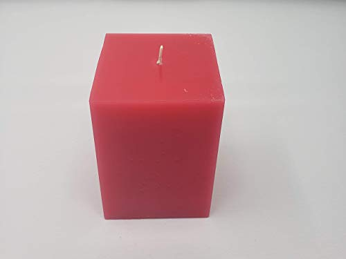 Plum Blossom Square Pillar Candle 3x3x4.5in