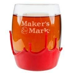 Maker's Mark Signature Etched Double Old Fashioned Rocks Glass
