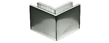 CRL Polished Stainless Steel 2-1/2 in x 2 in 90 Degree Outside Square Mall Front Clamp by C.R. Laurence