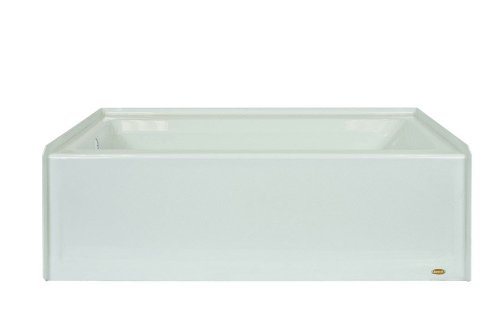 Jacuzzi J1S6032BLXXXXW Signature Three-Wall Alcove Soaking Bathtub with Left Drain, Tiling Flange and Skirt