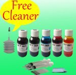 Compatible Ink Refill KIT for Epson C68 c88 c88+ Ciss, inkjet, Gloves , Cleaning Solvent, 4 Syringes & needles, Ink Cartridge 3x100ml Color & 300ml Jet Black CX4200 CX4800 Printer (Kit Epson Cleaning)