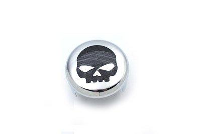 Skull Horn Cover (V-Twin 42-1526 - Skull Accent Horn Cover Chrome)