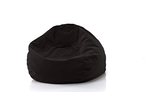 Gold Medal Bean Bags 30012859840 Gold Medal Microsuede Corduroy Bean Bag, Large, Charcoal