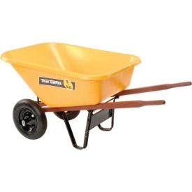 Ames RP810 8 Cubic Foot Poly Wheelbarrow with Dual Wheels [ Each Package Contains 1 ] ()