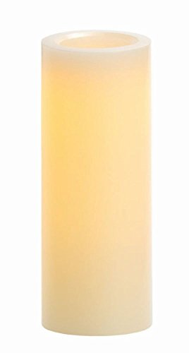 "Candle Impressions 4"" x 10"" Traditional Wax Pillar w/ 5-Hour Timer, Cream"
