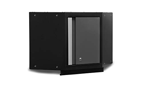NewAge Products 50001 Bold 3.0 Series Corner Wall Cabinet, Gray - Square Perforated Panel