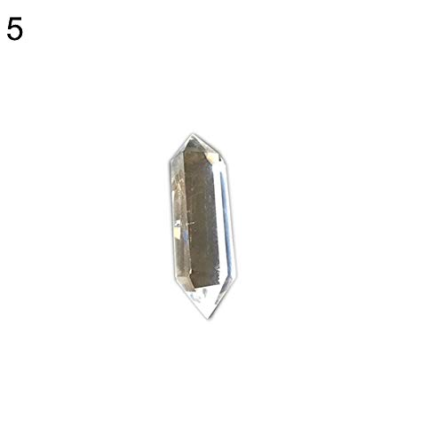 (essibly11jmp Clear Double Terminated Wand Point Healing Stone Jewelry Making DIY Pendant 5)